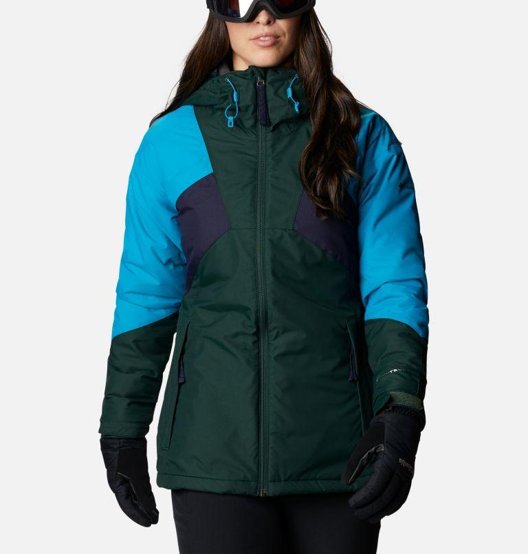 Alpine Diva™ Insulated Jacket | 370 | S Women's Alpine Diva™ Insulated Ski Jacket, Spruce, Fjord Blue, Dark Nocturnal, front