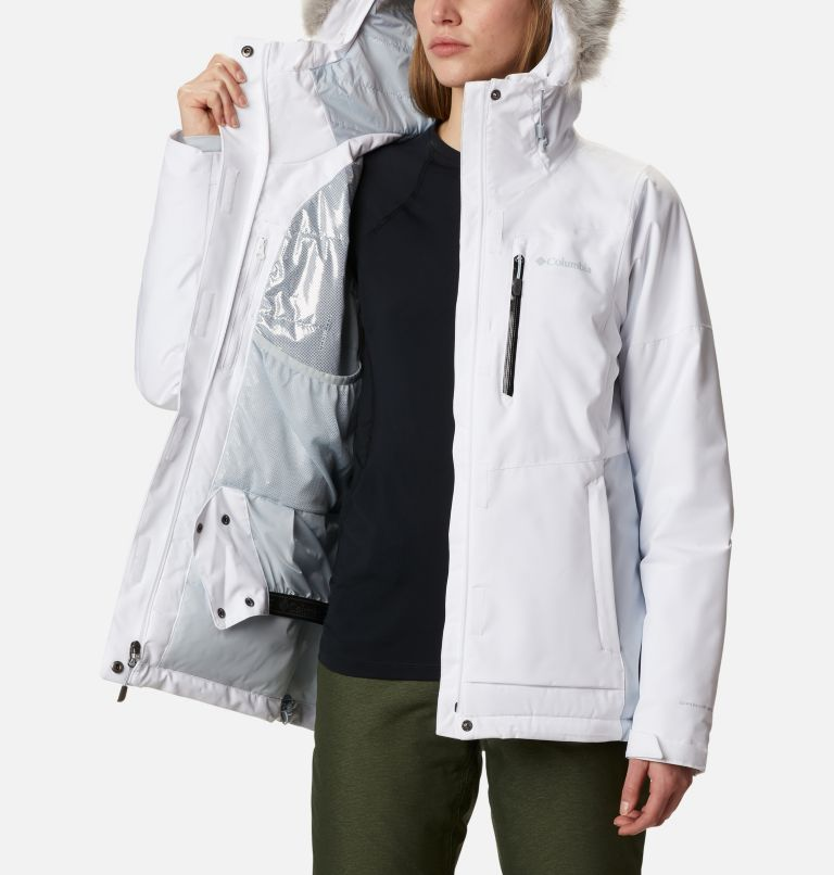 Ava Alpine™ Insulated Jacket | 100 | L Women's Ava Alpine Insulated Ski Jacket, White, Cirrus Grey, a3
