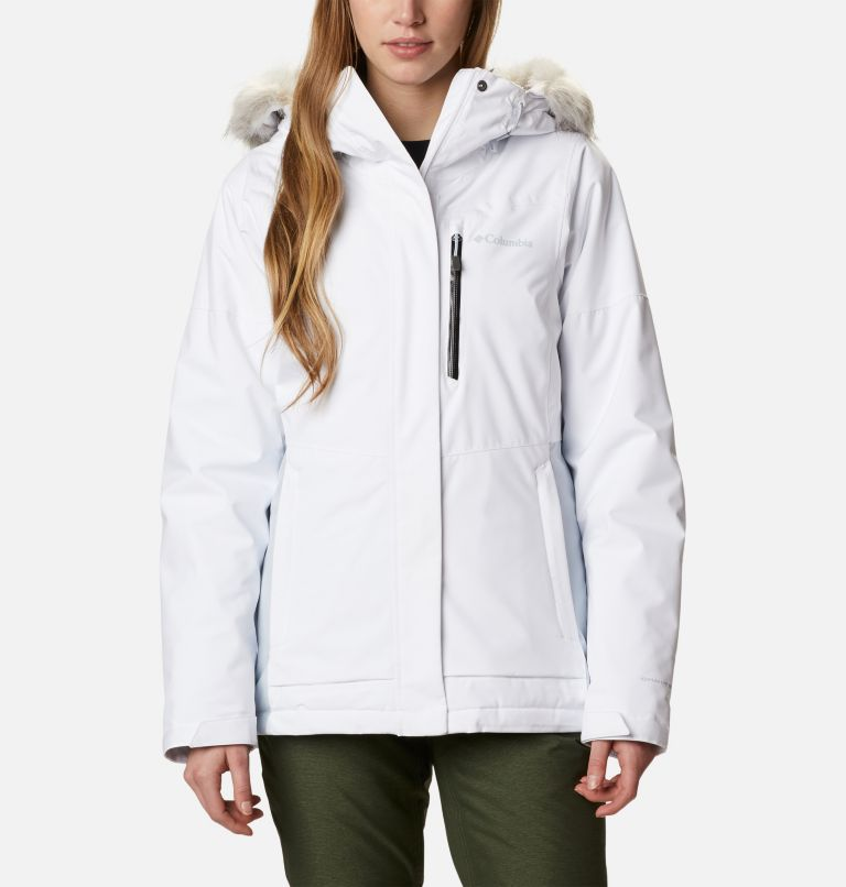 Ava Alpine™ Insulated Jacket | 100 | M Women's Ava Alpine Insulated Ski Jacket, White, Cirrus Grey, front