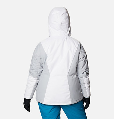 Women's Last Tracks™ Insulated Jacket - Plus Size Last Tracks™ Insulated Jacket | 671 | 3X, White, Cirrus Grey, back