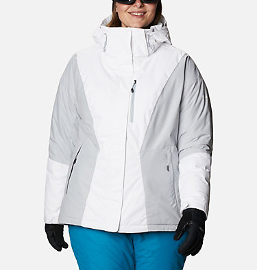 Women's Last Tracks™ Insulated Jacket - Plus Size Last Tracks™ Insulated Jacket | 671 | 3X, White, Cirrus Grey, front