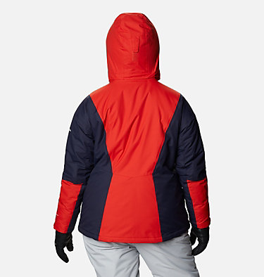Women's Last Tracks™ Insulated Jacket - Plus Size Last Tracks™ Insulated Jacket | 671 | 3X, Bold Orange, Dark Nocturnal, back