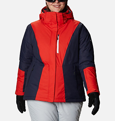 Women's Last Tracks™ Insulated Jacket - Plus Size Last Tracks™ Insulated Jacket | 671 | 3X, Bold Orange, Dark Nocturnal, front