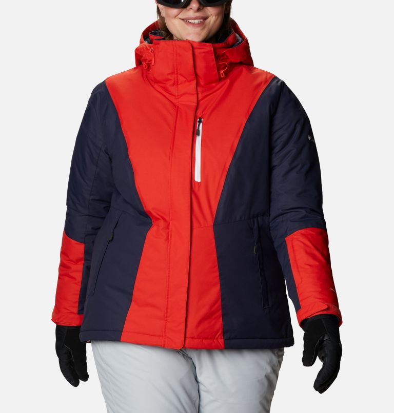 Last Tracks™ Insulated Jacket | 843 | 1X Women's Last Tracks™ Insulated Jacket - Plus Size, Bold Orange, Dark Nocturnal, front