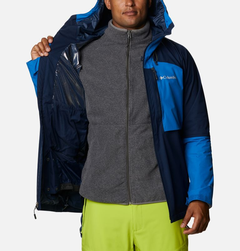 Banked Run™ Jacket | 464 | L Men's Banked Run™ Jacket, Collegiate Navy, Bright Indigo, a3