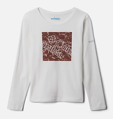 Girls' Primrose Hill™ Long Sleeve Graphic Tee Primrose Hill™ Graphic LS Tee | 462 | XL, White, front