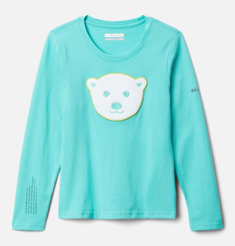 Primrose Hill™ Graphic LS Tee | 356 | L Girls' Primrose Hill™ Long Sleeve Graphic Tee, Dolphin, front
