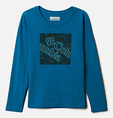 Girls' Primrose Hill™ Long Sleeve Graphic Tee Primrose Hill™ Graphic LS Tee | 462 | XL, Fjord Blue, front
