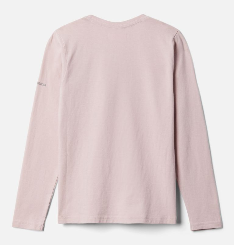 Primrose Hill™ Graphic LS Tee | 618 | S Girls' Primrose Hill™ Long Sleeve Graphic Tee, Mineral Pink, back