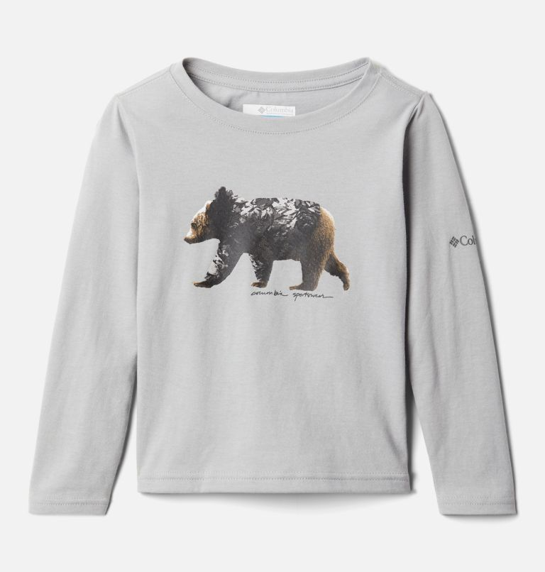 Primrose Hill™ Graphic LS Tee | 039 | 4T Girls' Toddler Primrose Hill™ Long Sleeve Graphic T-Shirt, Columbia Grey, front