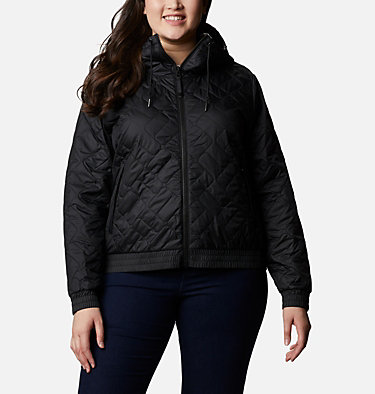 Women's Sweet View™ Insulated Bomber - Plus Size Sweet View™ Insulated Bomber | 772 | 2X, Black, front