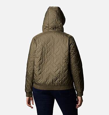 Women's Sweet View™ Insulated Bomber - Plus Size Sweet View™ Insulated Bomber | 772 | 1X, Stone Green, back