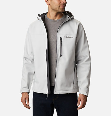 Men's Poplar Peak™ Hooded Softshell Jacket Poplar Peak™ Hooded Softshell | 464 | XL, Nimbus Grey, front