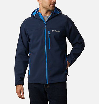 Men's Poplar Peak™ Hooded Softshell Jacket Poplar Peak™ Hooded Softshell | 464 | XL, Collegiate Navy, front