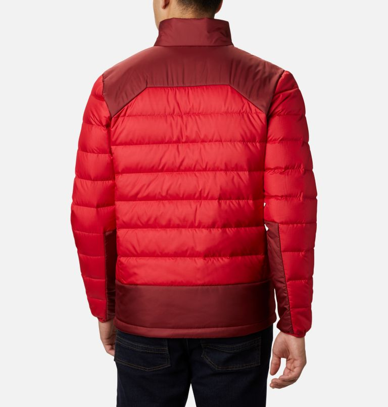 Autumn Park™ Down Jacket | 613 | L Men's Autumn Park Down Jacket, Mountain Red, Red Jasper, back