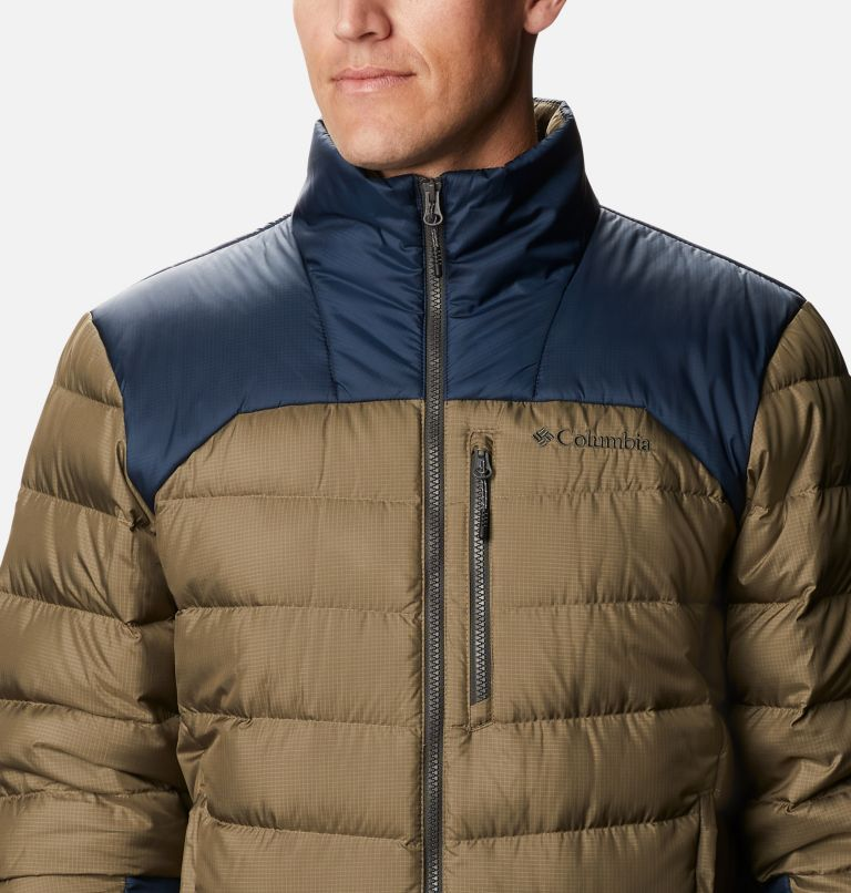 Autumn Park™ Down Jacket | 397 | XLT Men's Autumn Park™ Down Jacket - Tall, Stone Green, Collegiate Navy, a2