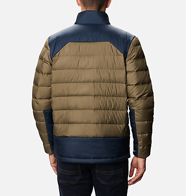 Men's Autumn Park™ Down Jacket - Tall Autumn Park™ Down Jacket | 397 | 2XT, Stone Green, Collegiate Navy, back