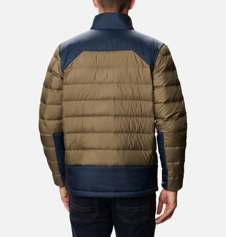 Autumn Park™ Down Jacket | 397 | XLT Men's Autumn Park™ Down Jacket - Tall, Stone Green, Collegiate Navy, back