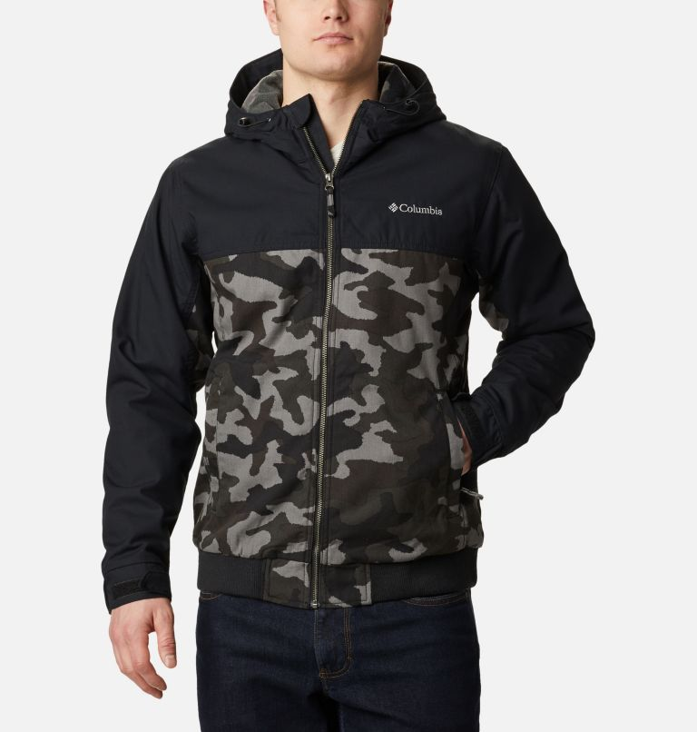 Loma Vista™ Hooded Jacket | 011 | XXL Men's Loma Vista™ Hooded Jacket, Black Traditional Camo, Black, front