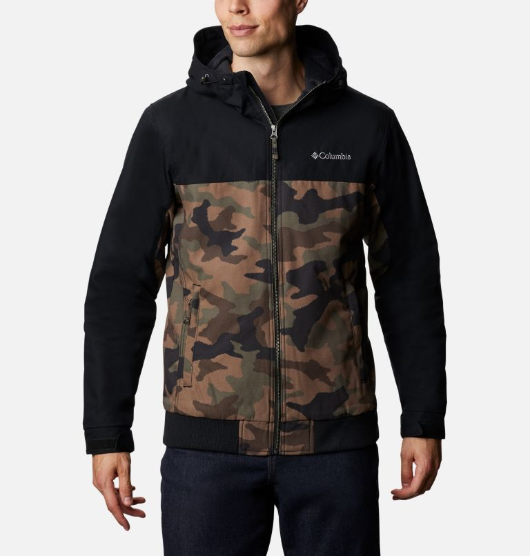 Loma Vista™ Hooded Jacket | 316 | XXL Men's Loma Vista™ Hooded Jacket, Cypress Traditional Camo, Black, front