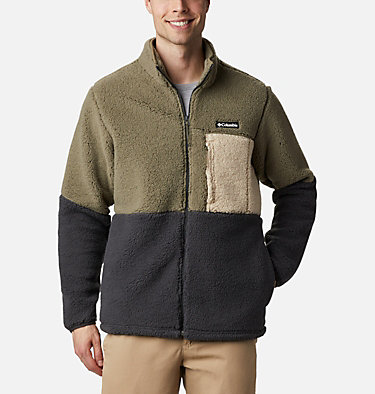 Men's Mountainside™ Heavyweight Sherpa Fleece Jacket Mountainside™ Heavyweight Fleece | 464 | XXL, Stone Green, Shark, Ancient Fossil, front