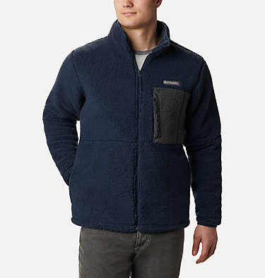 Men's Mountainside™ Heavyweight Sherpa Fleece Jacket Mountainside™ Heavyweight Fleece | 465 | S, Collegiate Navy, front
