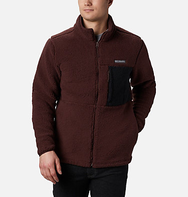 Men's Mountainside™ Heavyweight Sherpa Fleece Jacket Mountainside™ Heavyweight Fleece | 465 | S, Red Lodge, Black, front