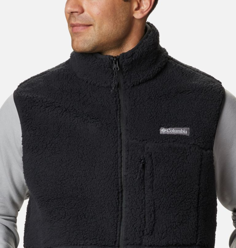 Mountainside™ Vest | 010 | L Men's Mountainside™ Sherpa Fleece Vest, Black, a2
