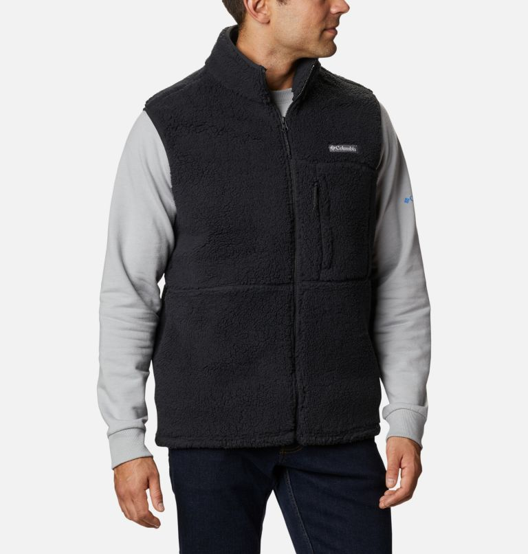 Mountainside™ Vest | 010 | L Men's Mountainside™ Sherpa Fleece Vest, Black, front