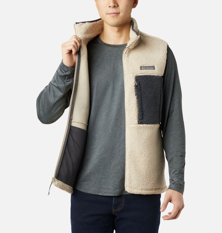Mountainside™ Vest | 271 | XL Men's Mountainside™ Sherpa Fleece Vest, Ancient Fossil, Shark, a4