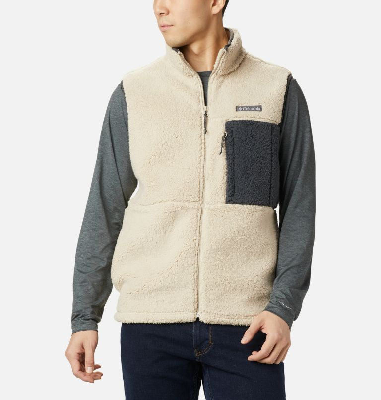 Mountainside™ Vest | 271 | XL Men's Mountainside™ Sherpa Fleece Vest, Ancient Fossil, Shark, front