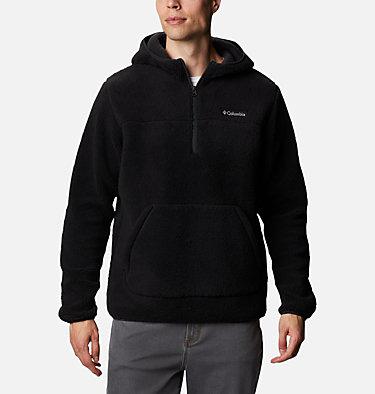 Men's Rugged Ridge™ II Hooded Sherpa Fleece Pullover Rugged Ridge™ II Sherpa Pullover Hoodie | 010 | S, Black, front