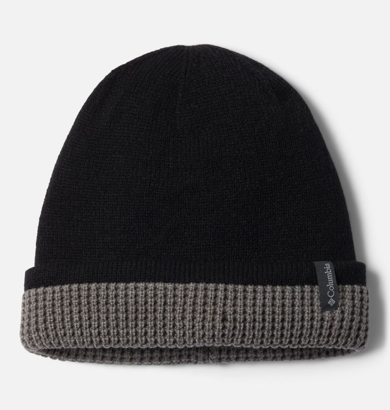 City Trek™ Reversible Beanie | 010 | O/S City Trek™ Reversible Beanie, Black, City Grey Heather, front