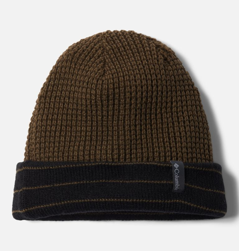 City Trek™ Reversible Beanie | 011 | O/S Tuque réversible City Trek™, Black Stripe, Olive Green, a1