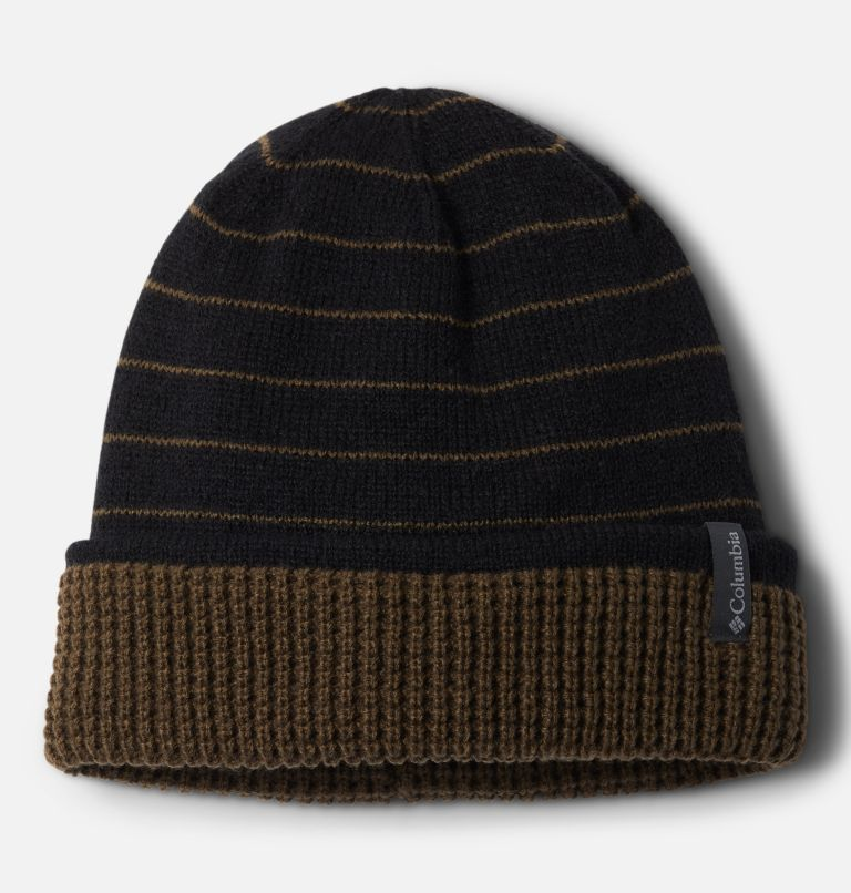 City Trek™ Reversible Beanie | 011 | O/S City Trek™ Reversible Beanie, Black Stripe, Olive Green, front