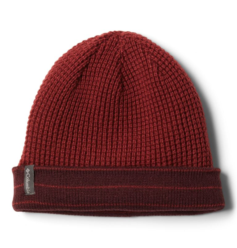 City Trek™ Reversible Beanie | 671 | O/S Tuque réversible City Trek™, Malbec Stripe, Marsala Red, a1