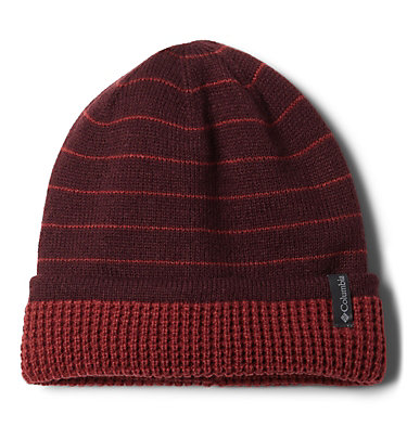 Tuque réversible City Trek™ City Trek™ Reversible Beanie | 010 | O/S, Malbec Stripe, Marsala Red, front