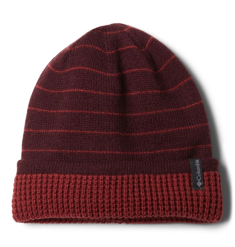 City Trek™ Reversible Beanie | 671 | O/S Tuque réversible City Trek™, Malbec Stripe, Marsala Red, front