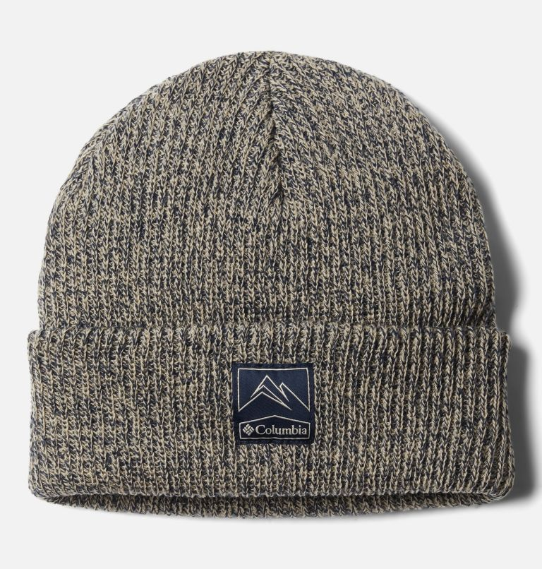 Whirlibird™ Cuffed Beanie   271   O/S Gorro Whirlibird Cuffed Unisex, Ancient Fossil, Collegiate Navy Marled, front
