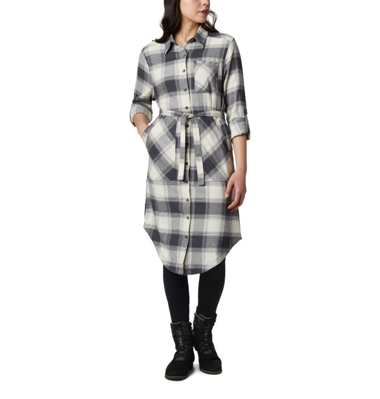 Pine Street™ Shirt Dress | 191 | S Women's Pine Street™ Shirt Dress, Chalk Buffalo Plaid, a3