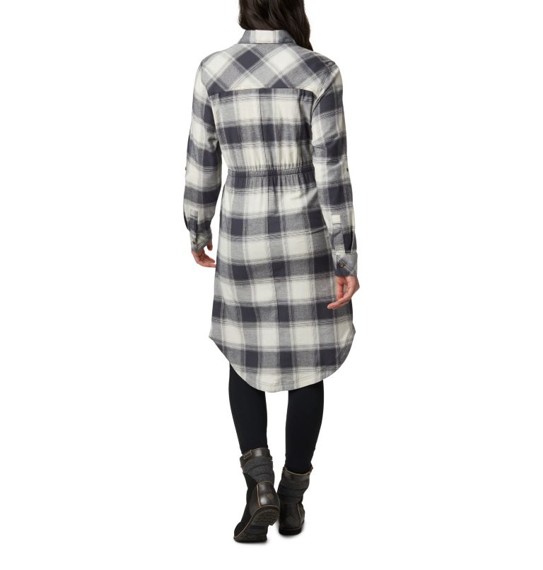Pine Street™ Shirt Dress | 191 | S Women's Pine Street™ Shirt Dress, Chalk Buffalo Plaid, back