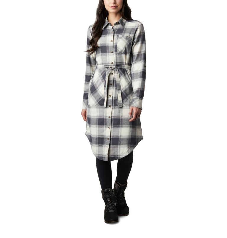 Pine Street™ Shirt Dress | 191 | S Women's Pine Street™ Shirt Dress, Chalk Buffalo Plaid, front