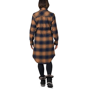 Women's Pine Street™ Shirt Dress Pine Street™ Shirt Dress | 286 | L, Elk Buffalo Plaid, back