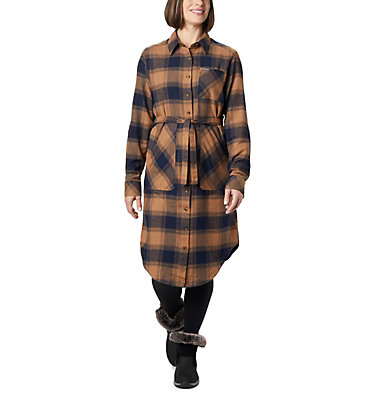 Women's Pine Street™ Shirt Dress Pine Street™ Shirt Dress | 286 | L, Elk Buffalo Plaid, front