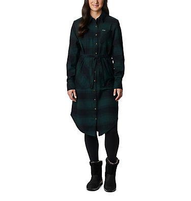 Women's Pine Street™ Shirt Dress Pine Street™ Shirt Dress | 286 | L, Spruce Buffalo Plaid, front