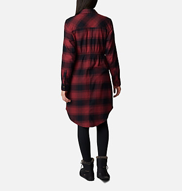 Women's Pine Street™ Shirt Dress Pine Street™ Shirt Dress | 619 | L, Marsala Red Buffalo Plaid, back