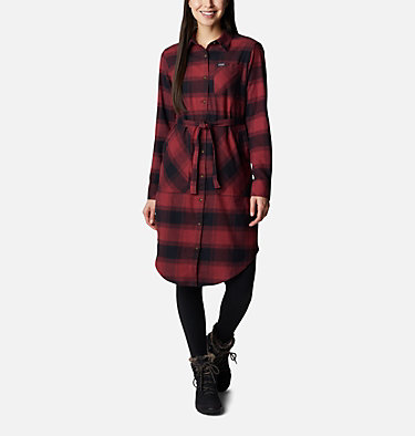 Women's Pine Street™ Shirt Dress Pine Street™ Shirt Dress | 619 | L, Marsala Red Buffalo Plaid, front