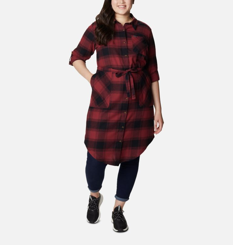 Women's Pine Street™ Shirt Dress - Plus Size Women's Pine Street™ Shirt Dress - Plus Size, front
