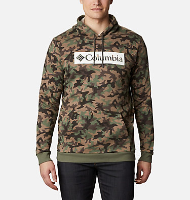 Hoodie imprimé Columbia Logo homme M Columbia Logo™ Printed Hoodie | 010 | S, Cypress Camo, front