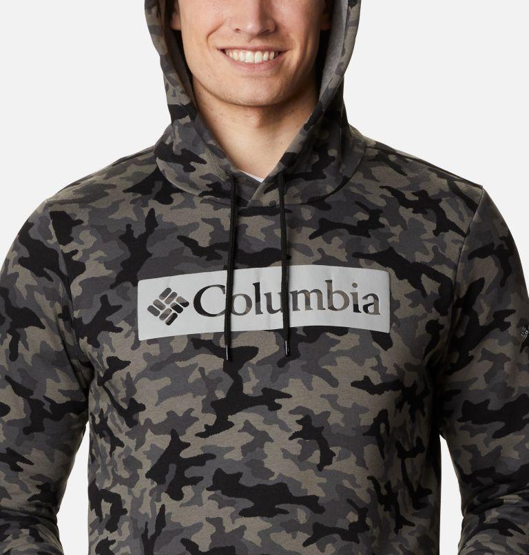 M Columbia Logo™ Printed Hoodie | 011 | 4X Men's Columbia Logo™ Printed Hoodie - Big, Black Camo, a2